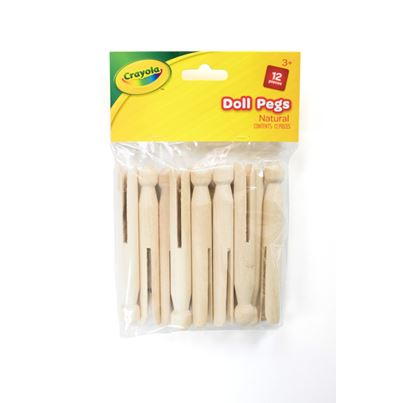 CRAYOLA CRAFT DOLL PEGS NAT
