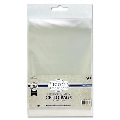 5X7 SELF SEAL CELLO BAGS 50