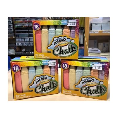 SIDEWALK CHALK PK18 COLOURED