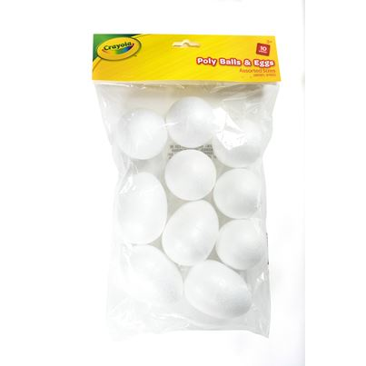 CRAYOLA CRAFT POLY BALLS &EGGS