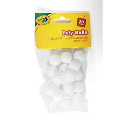 CRAYOLA CRAFT POLY BALLS 20MM